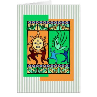 Cartão Elementos do feriado Notecards de Kwanzaa da