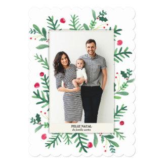 Cartões de Natal com Aquarela na Zazzle