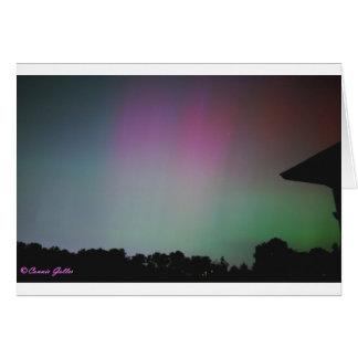 Cartão Em setembro de 2002 aurora boreal