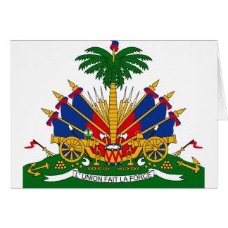 Cartão emblema de haiti