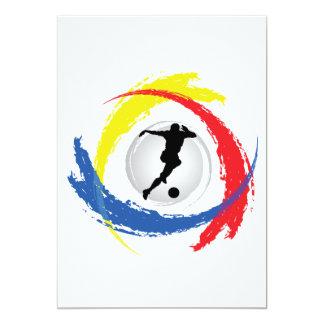 Cartão Emblema Tricolor do futebol