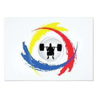 Cartão Emblema Tricolor do levantamento de peso