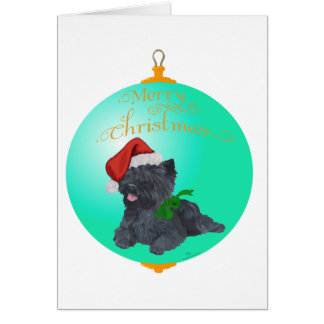 Cartão Enfeites de natal de Terrier de monte de pedras