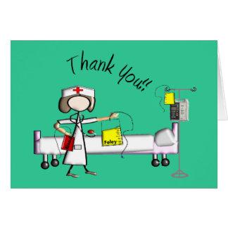 """Cartão Enfermeira """"obrigado você"""" presentes"""