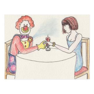 Cartão engraçado da arte da novidade do amor e cartão postal
