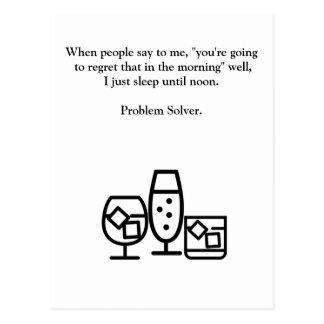 Cartão engraçado da manutenção do bebendo