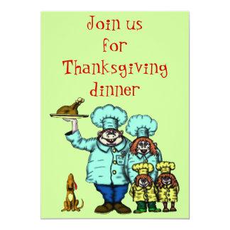Cartão engraçado do convite da acção de graças