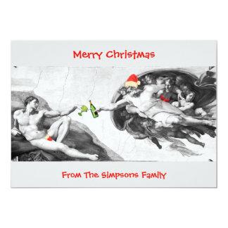 Cartão engraçado do convite de Michelangelo do