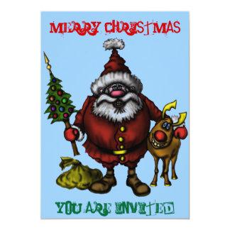 Cartão engraçado do convite do Natal Convite 12.7 X 17.78cm