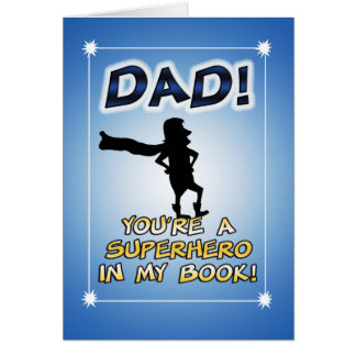 Cartão engraçado do dia dos pais: Super-herói