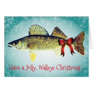 """Cartão Engraçado """"tenha um Natal alegre dos Walleye """""""