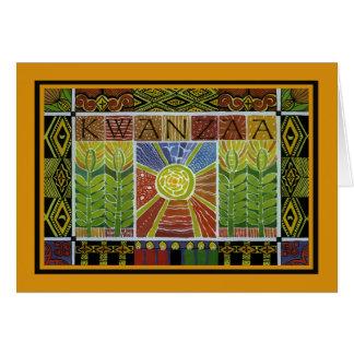 Cartão Envolvido no feriado Notecards de Kwanzaa