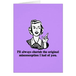 Cartão Equívoco - humor sarcástico