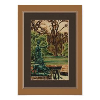 Cartão Escultura de Artemis nos jardins