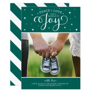 Cartão escuro do anúncio da gravidez do Natal da Convite 12.7 X 17.78cm