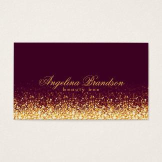 Cartão escuro perito de Borgonha da beleza