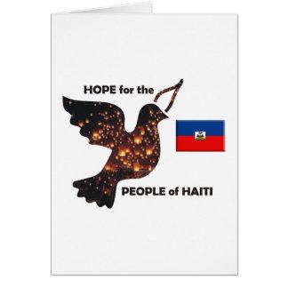 Cartão Espere para as pessoas de Haiti - bandeira