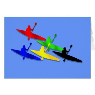Cartão Esportes de água Canoeing do kyak da canoa de