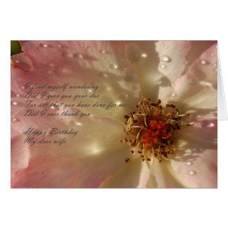 Cartão Esposa do feliz aniversario