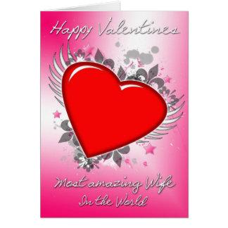 Cartão Esposa feliz dos namorados