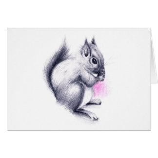 Cartão esquilo do bebê