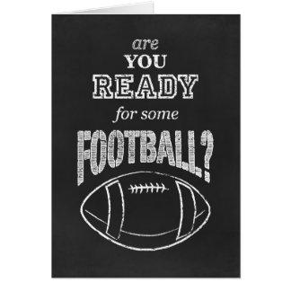 Cartão está você pronto para algum futebol?