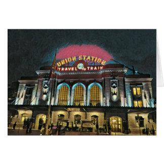 Cartão Estação da união de Denver