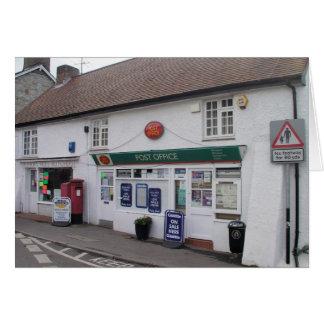 Cartão Estação de correios da Casca do Bishop, Somerset,