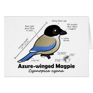 Cartão estatísticas Azure-voadas do Magpie