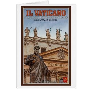 Cartão Estátuas da Cidade do Vaticano