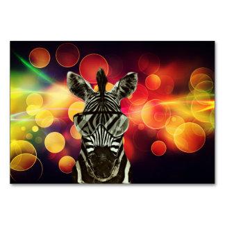 Cartão Estilo da zebra do hipster