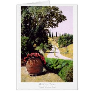 Cartão Estrada do verão de Tuscan por Bates de Matthew