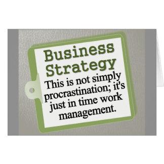 Cartão Estratégia empresarial