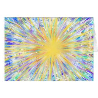 Cartão Estrela amarela azul de Starburst do Aqua da arte