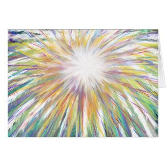 Cartão Estrela colorida de Starburst da arte do Natal da