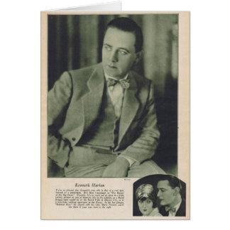 Cartão Estrela de cinema silenciosa de Kenneth Harlan