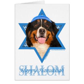 Cartão Estrela de David de Hanukkah - cão de montanha de