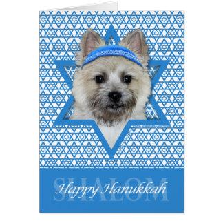 Cartão Estrela de David de Hanukkah - monte de pedras