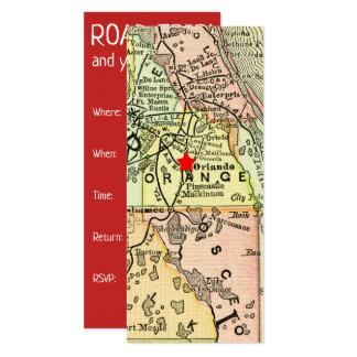 Cartão Estrela vermelha móvel de Orlando do mapa das