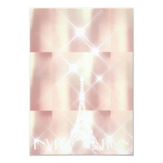 Cartão Estrelas Sparkly de Paris da torre Eiffel