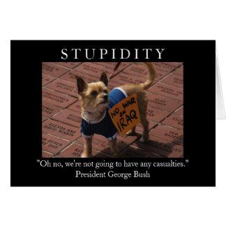 Cartão Estupidez