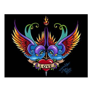 Cartão eterno do tatuagem da andorinha do