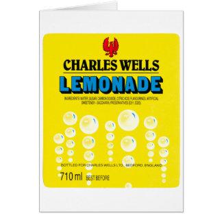 Cartão Etiqueta da limonada dos poços de Charles do