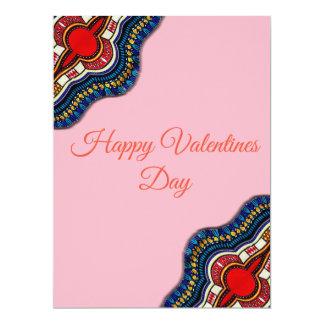Cartão étnico do dia dos namorados do laço de