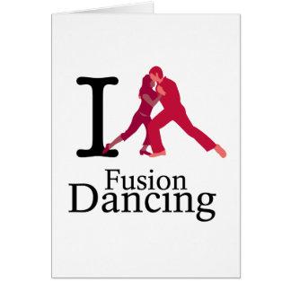 Cartão Eu amo a dança da fusão