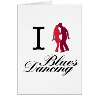 Cartão Eu amo a dança dos azuis