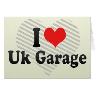 Cartão Eu amo a garagem britânica