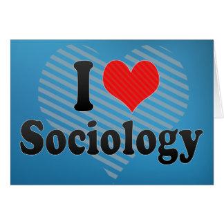 Cartão Eu amo a Sociologia