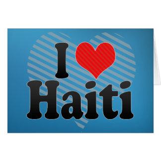 Cartão Eu amo Haiti