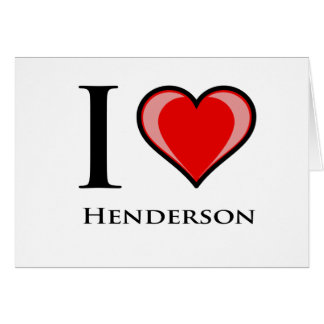 Cartão Eu amo Henderson
